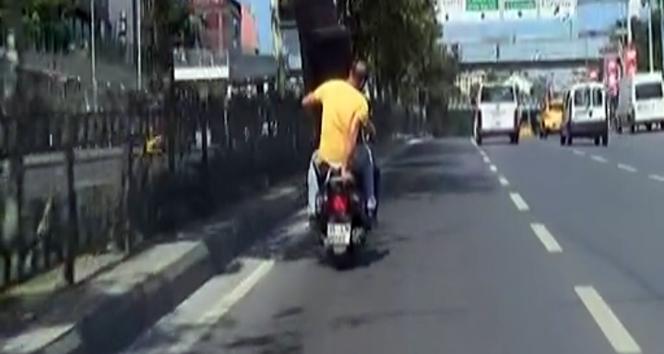 Şişli'de trafikte pes dedirten görüntü