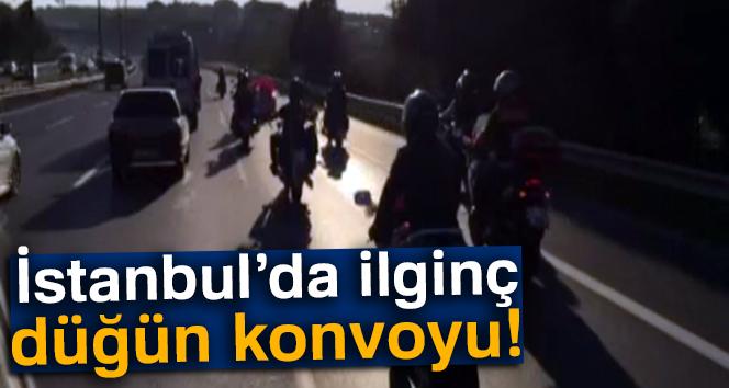 İstanbul'da ilginç düğün konvoyu