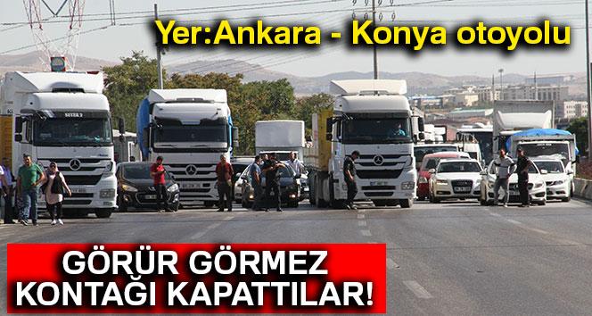 Yer: Ankara - Konya otoyolu... Görür görmez kontağı kapattılar!