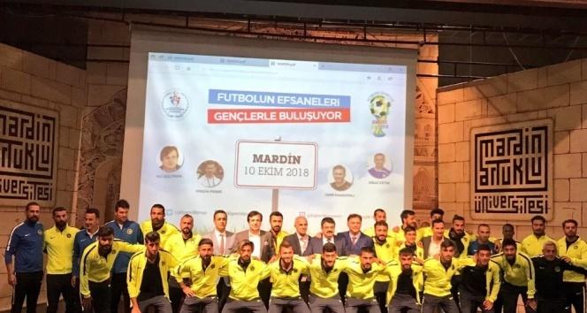 Futbolun efsaneleri Mardinli gençlerle buluştu