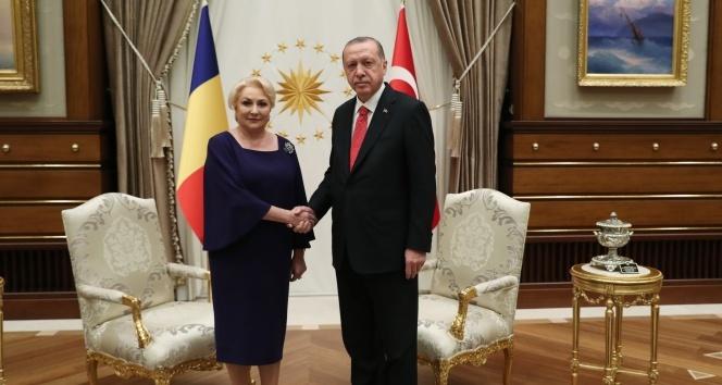 Cumhurbaşkanı Erdoğan, Romanya Başbakanı Dancila'yı kabul etti