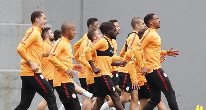 Galatasaray Bursaspor maçı hazırlıklarını sürdürdü...