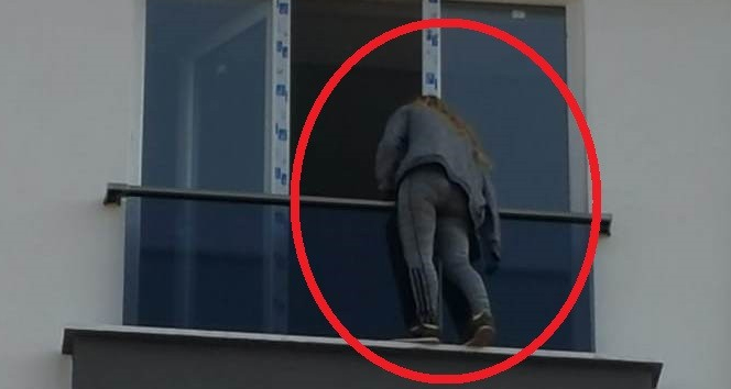 Samsun'da 5. katın penceresinde intihar girişimi