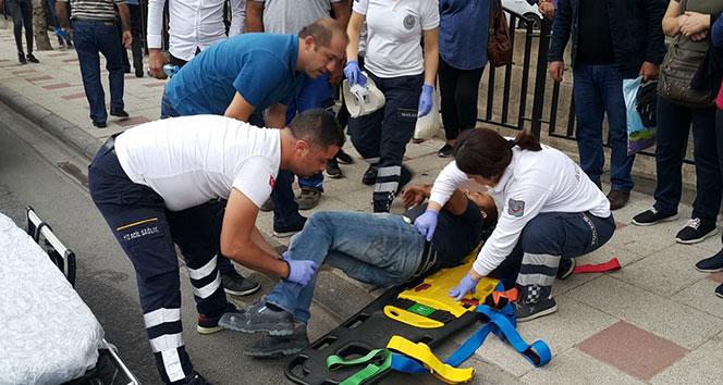 Milas'ta yola aniden fırlayan yaya yaralandı