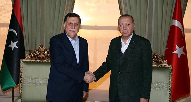 Cumhurbaşkanı Erdoğan, Libya Başkanlık Konseyi Başkanı'nı kabul etti
