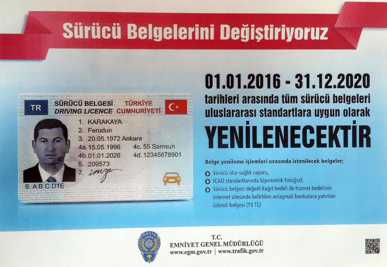 Sürücü belgesi - yeni dönem