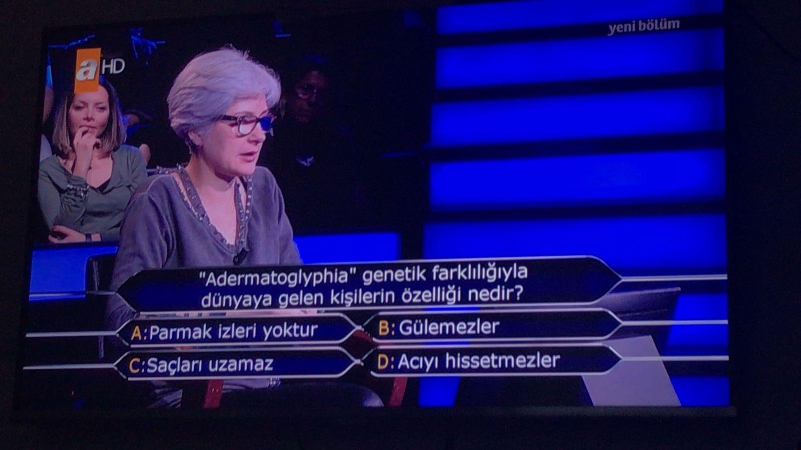 Adermatoglyphia (Adermatoglifiya) nedir? Kim Milyoner olmak ister sorusunun cevabı