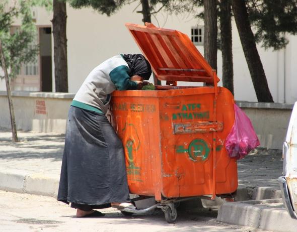 Gaziantep'te yürek sızlatan görüntü