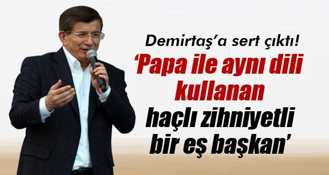 Davutoğlu, Demirtaş'a sert çıktı