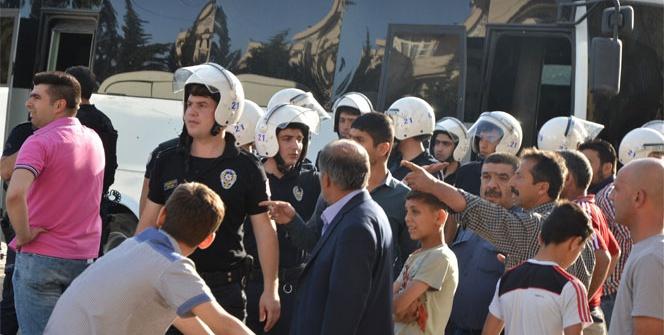 Silvan'da HÜDA-PAR'lılar ile HDP'liler arasında gerginlik