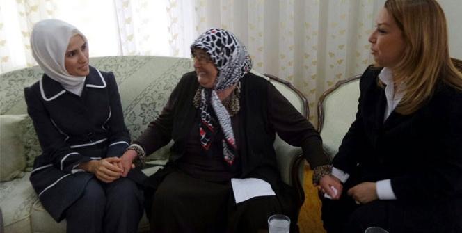 Sümeyye Erdoğan, Hamido'nun eşini ziyaret etti