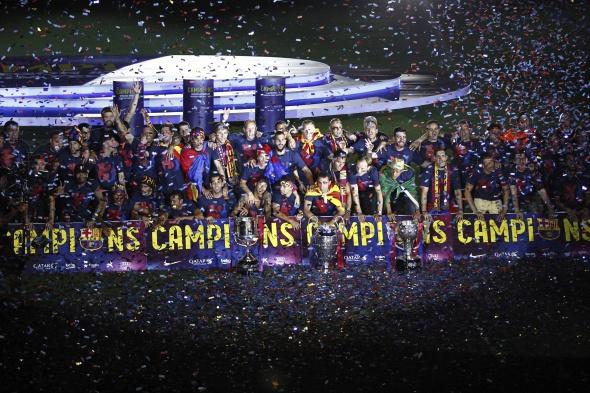 Barcelona'da coşkulu kutlama
