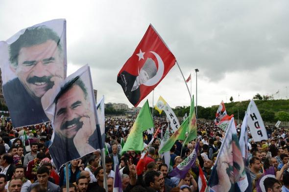 HDP'nin kutlamasında ilginç görüntüler