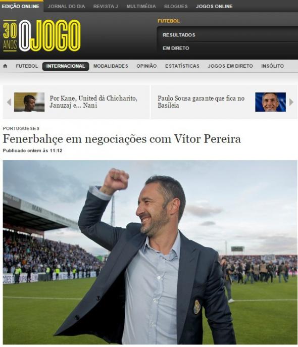 Fenerbahçe'de Vitor Pereira sesleri