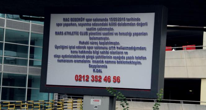 Çalınan 30 bin dolarlık saate billboardlı kayıp ilanı! 30 bin dolarlık saat,kayıp saat,kerem dal