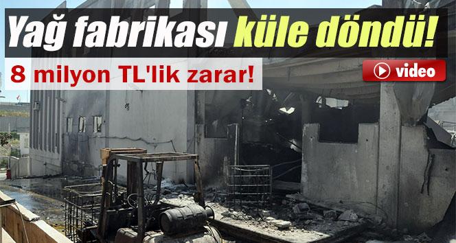 Yağ fabrikası tamamen yandı