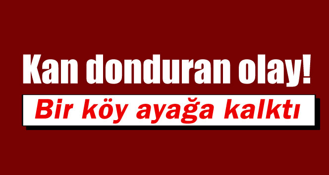 Kayseri'de kan donduran olay