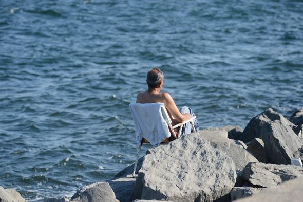 Sıcak hava Boğazı plaja çevirdi