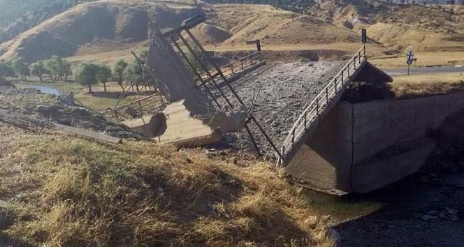 PKK köprüyü havaya uçurdu, doğalgaz hattına saldırdı