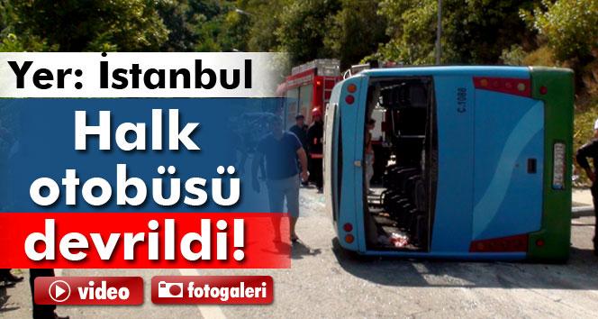 Özel halk otobüsü kaza yaptı: 7 yaralı