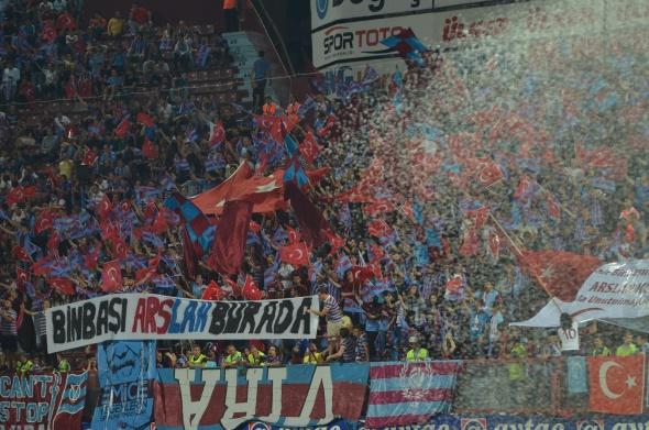Trabzonspor Rabotnicki maçından kareler