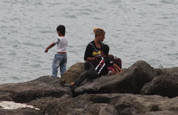 İlk defa denizi gören çocuklar