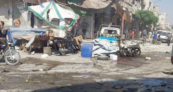 Suriye'de rejim uçakları pazar yerini vurdu: 30 ölü
