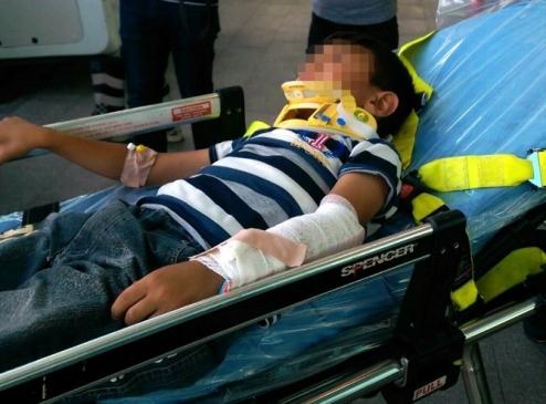 1. Kattan DÜşen Çocuk Yaralandı