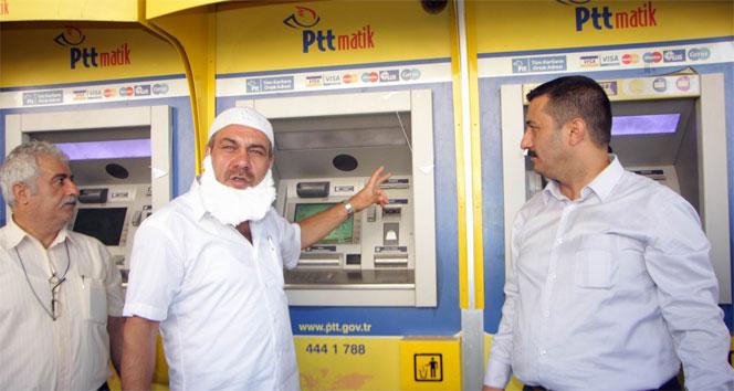 PTT ATM'sinde kaybolan 285 bin lirayı cinci hoca ile aradılarcinci hoca,para arama,PTT