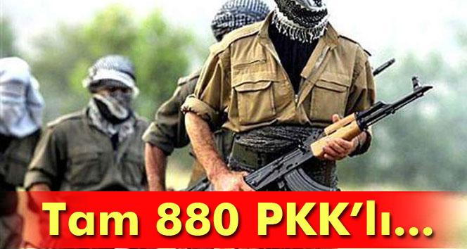 Şırnak'ta iki yılda 880 PKK'lı teslim oldu