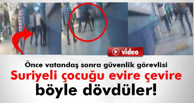 Ankara Metrosu'nda Suriyeli çocuk böyle darp edildi