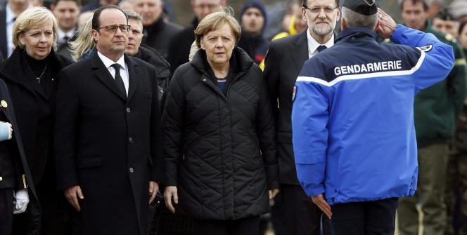 Fransız, Alman ve İspanyol liderler kaza bölgesinde