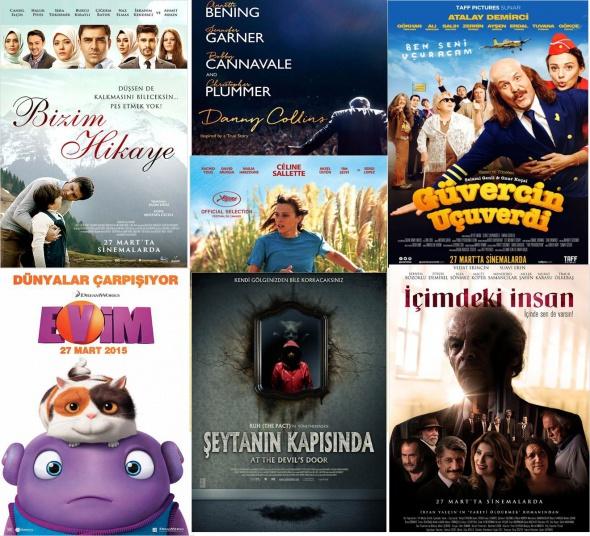 Sinemalarda bu hafta 27 Mart 2015 vizyona giren filmler
