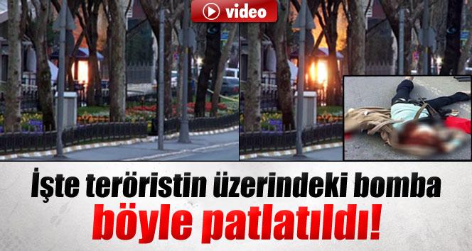 Teröristin üzerindeki bomba böyle patlatıldı
