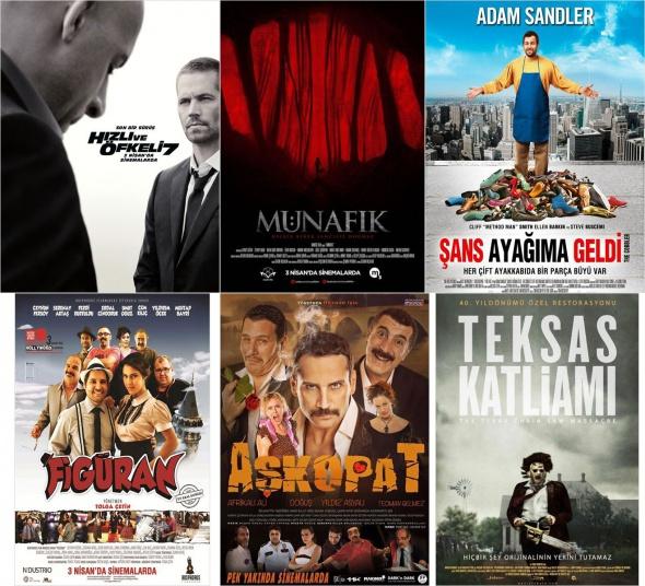Sinemalarda bu hafta 3 Nisan 2015 vizyona giren filmler