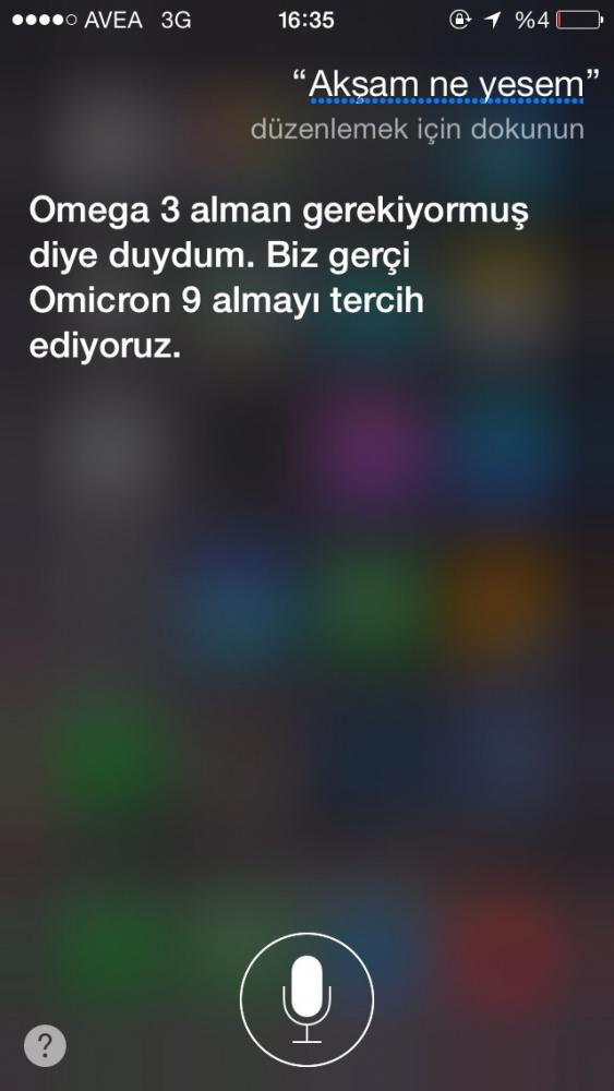 Siri'nin Türklerle imtihanı