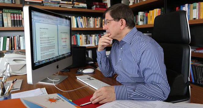 Başbakan Ahmet Davutoğlu, çalışma ofisinden fotoğraf paylaştıBaşbakan Ahmet Davutoğlu,çalışma ofisi,fotoğraf paylaşımı