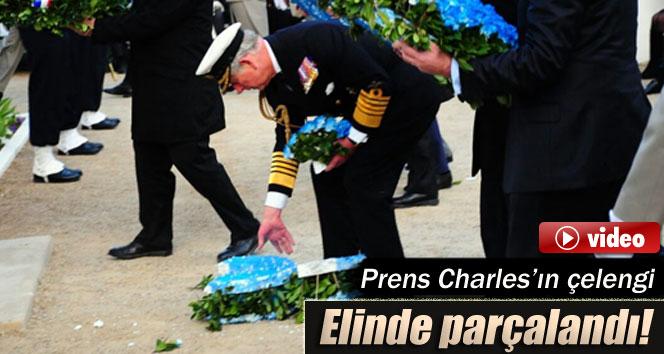 Prens Charles'in çelengi elinde parçalandı