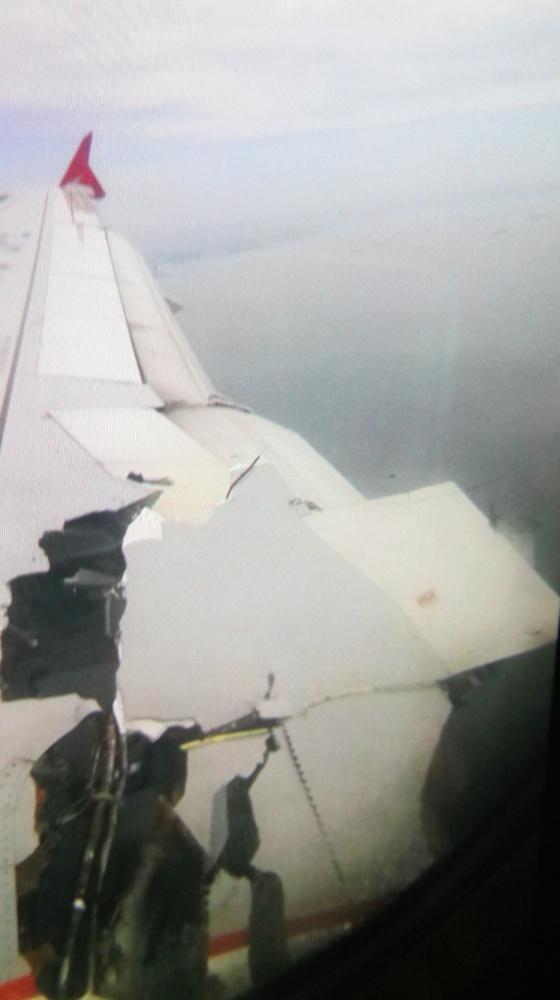Uçak sadece yanmamış!