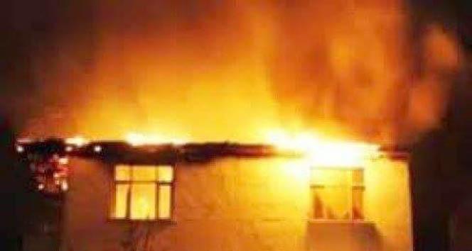 Patlayan tüp yangına sebep oldu