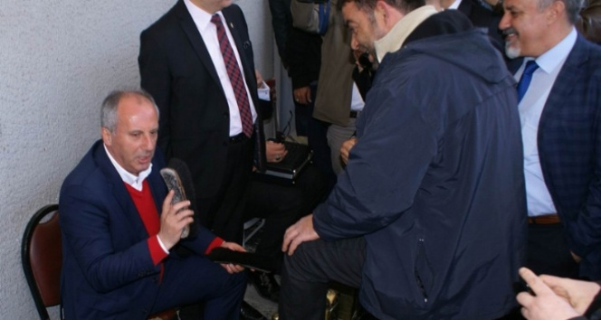 CHP'li İnce ayakkabı boyadı