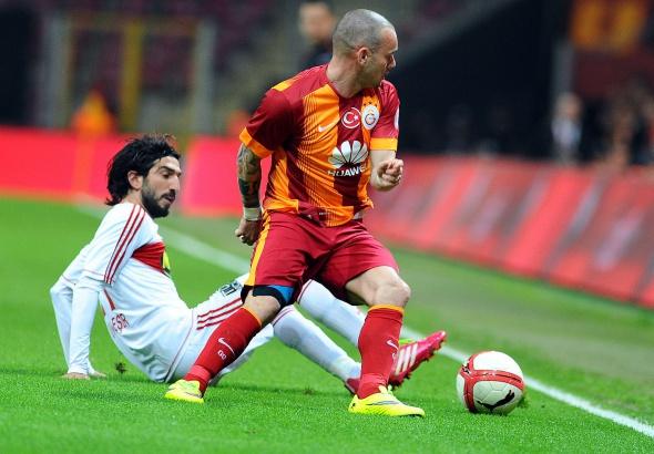 Galatasaray-Sivasspor maçından kareler