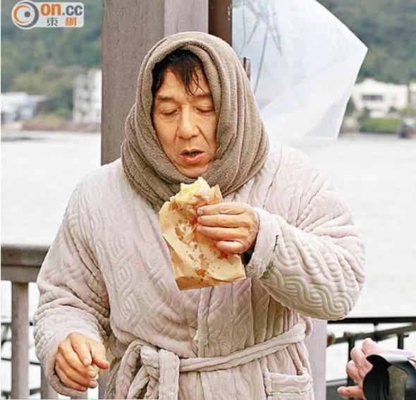 Jackie Chan'i hiç böyle görmediniz