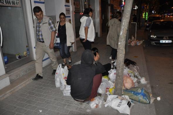Eskişehir'de yürek sızlatan görüntü